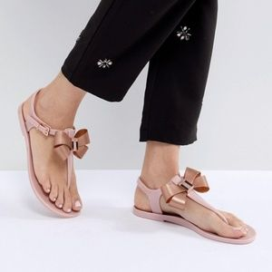 Ted Baker CAMARIL Bow Detail Jelly Sandals